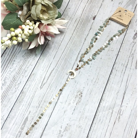 Walk The Line Long Drop Necklace - Faye Baby Boutique