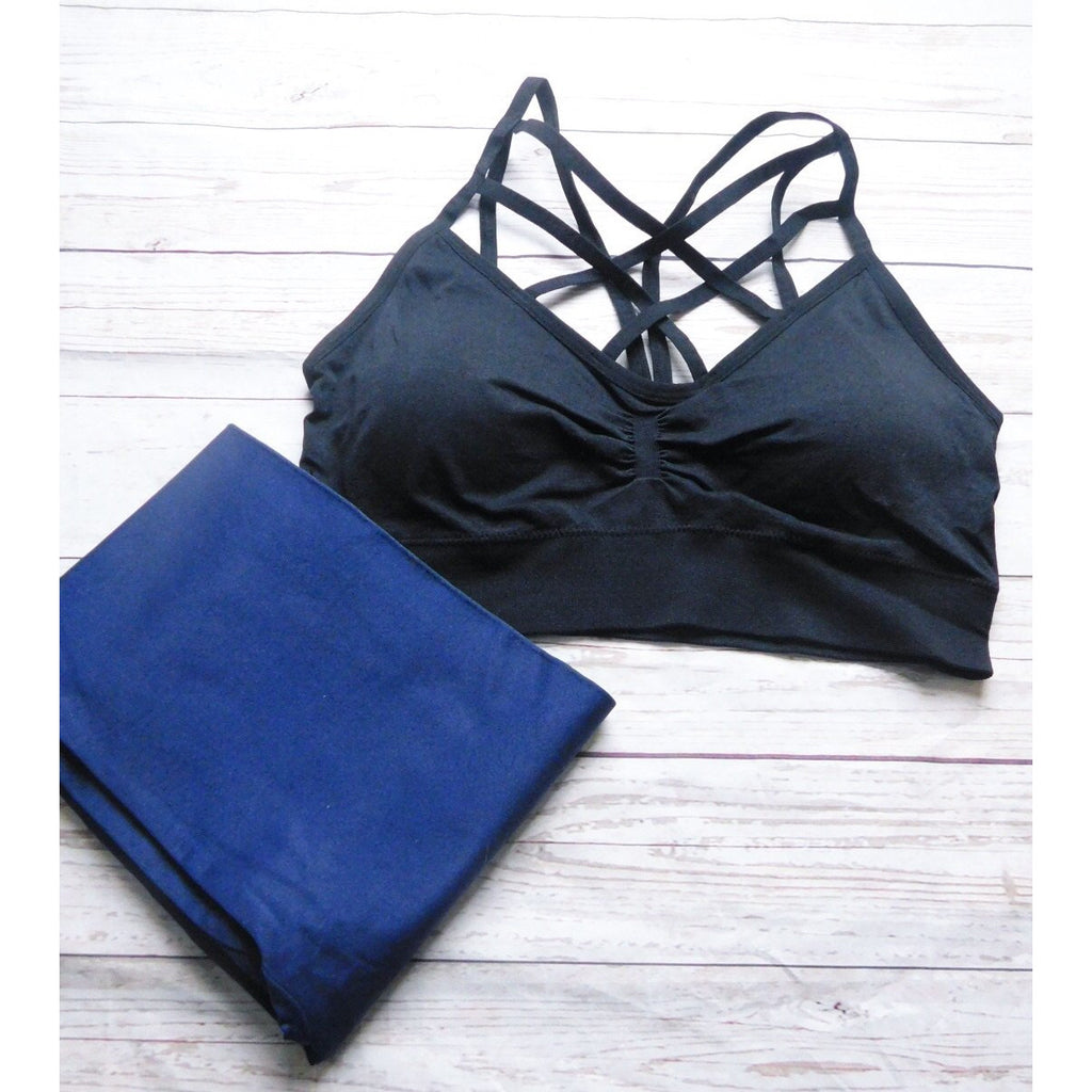 Black Curvy Raise Your Glass Bralette - Faye Baby Boutique