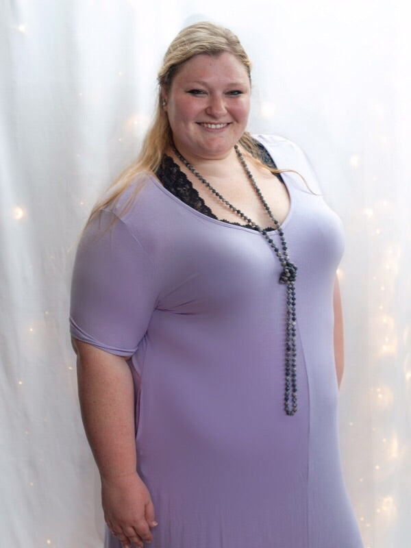 Curvy Lavender Maxi Dress