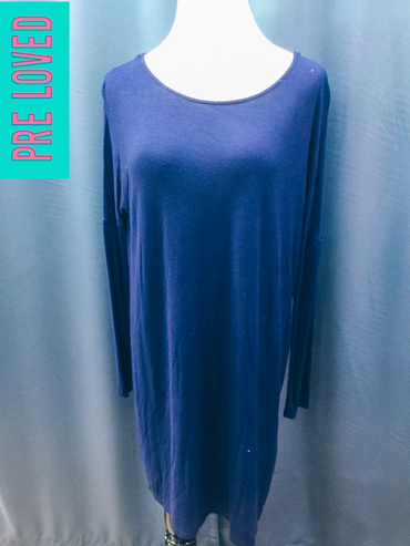 Pre Loved Small Blue Long Sleeve Dress