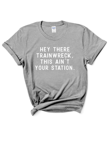 Hey There Train Wreck Graphic Tee