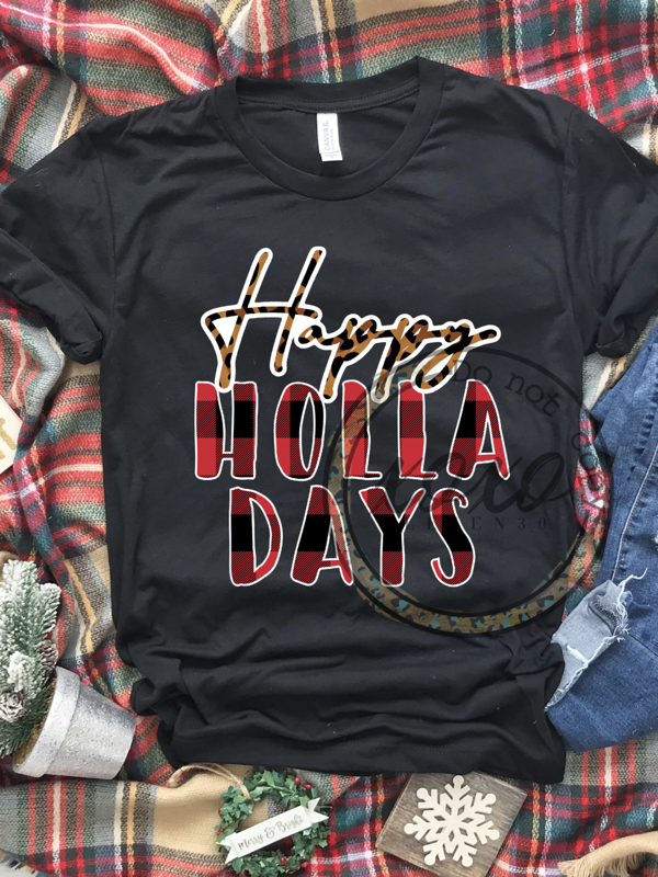 Happy Holla-days Graphic Tee