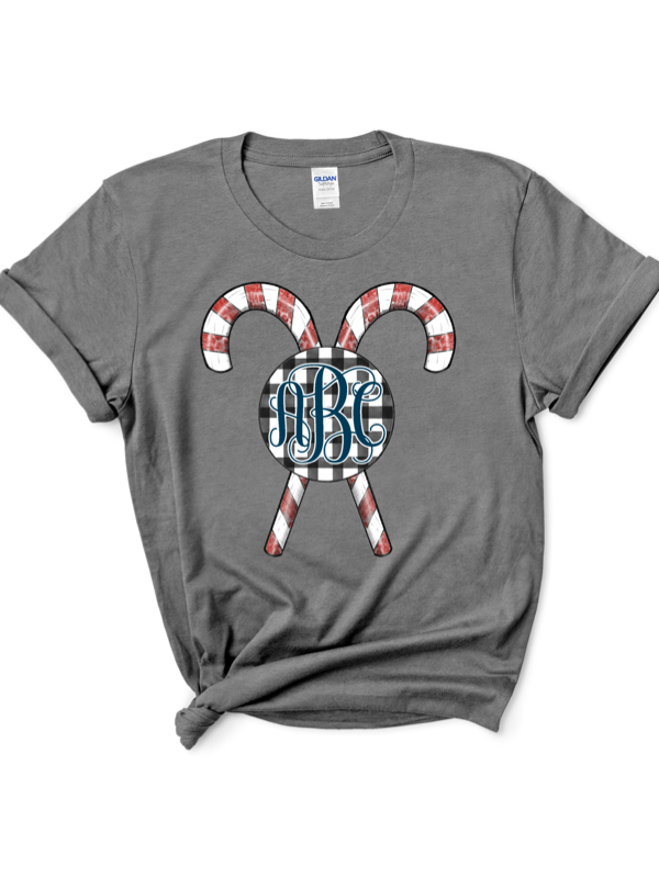 Black Friday Candy Cane Monogram Graphic Tee