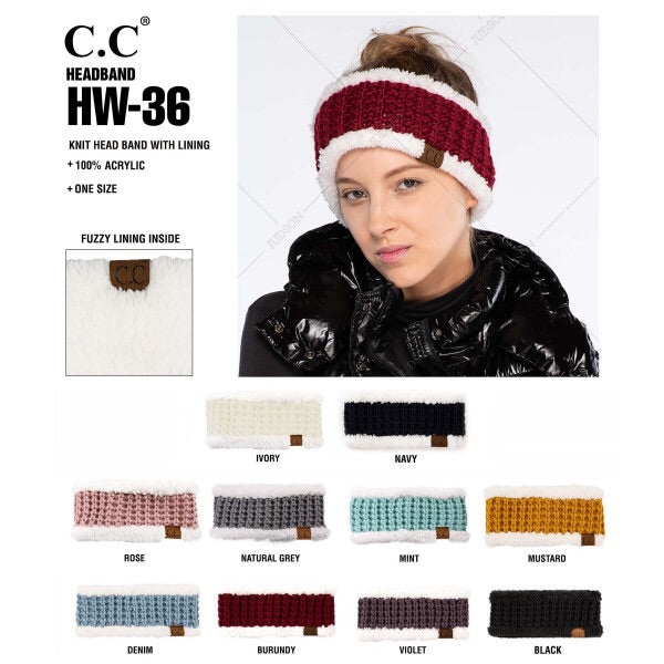 C.C. Sherpa Lined Head Wrap