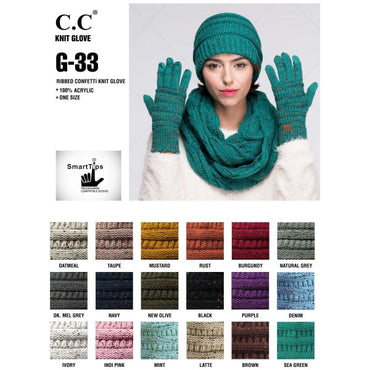 C.C. Smart Touch Confetti Gloves