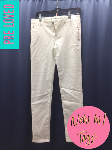 Pre Loved Size 9 Celebrity Pink White Jeans