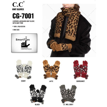 C.C. Smart Touch Leopard Gloves