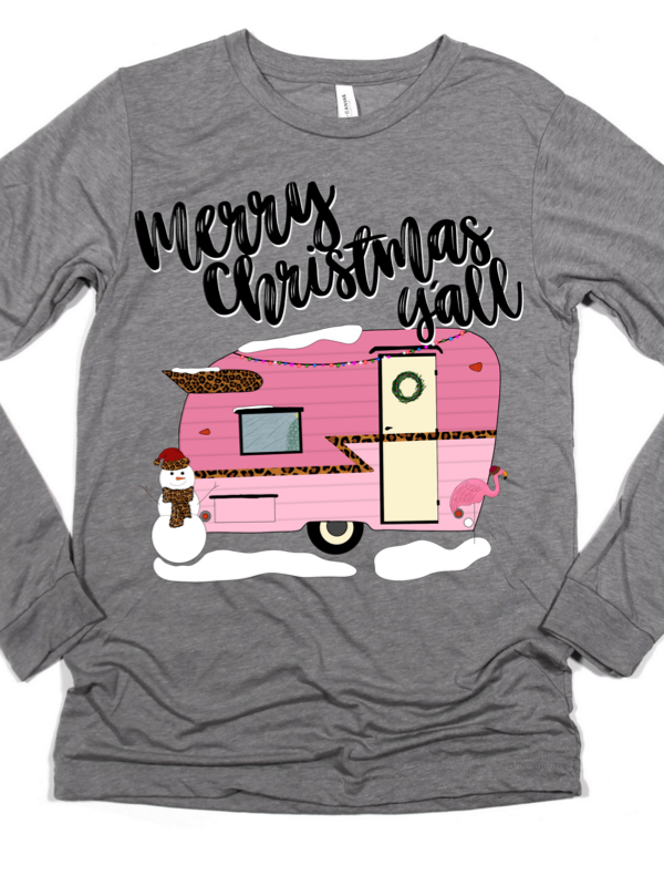 Merry Christmas Y'all Camper Graphic Tee
