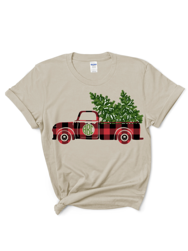 Black Friday Vintage Truck Monogram Graphic Tee