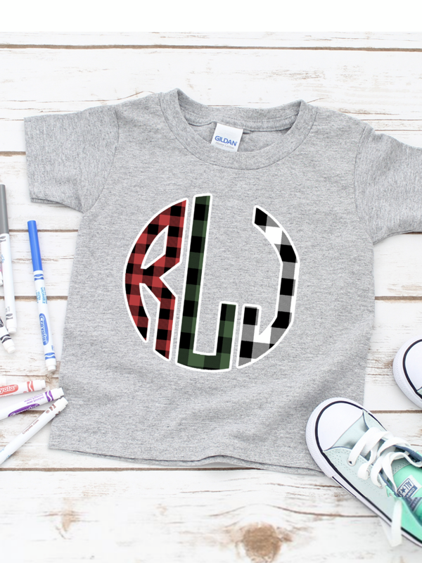 $10 Toddler Monogramed Graphic Tee