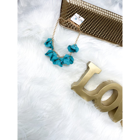 Teal Petal Necklace Set - Faye Baby Boutique