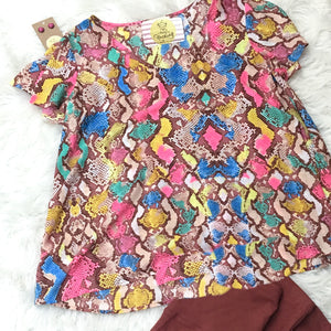 Large Rainbow Snake Skin Top