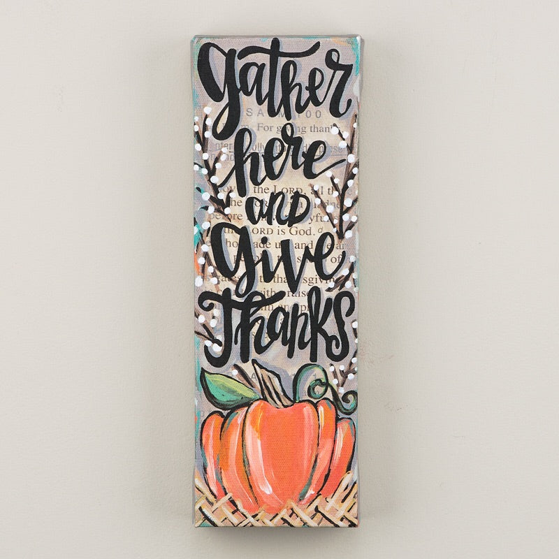 Give Thanks Canvas - Faye Baby Boutique