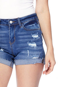 Judy Blue Distressed Shorties - Faye Baby Boutique
