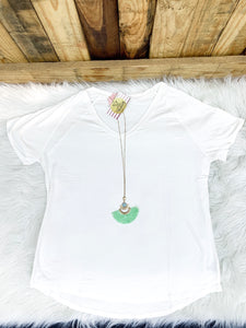 White Curvy Weekend Tee - Faye Baby Boutique