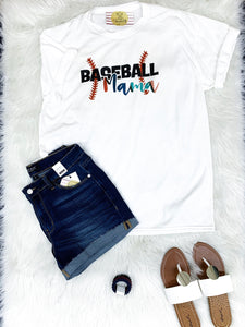 Baseball Mama Graphic Tee