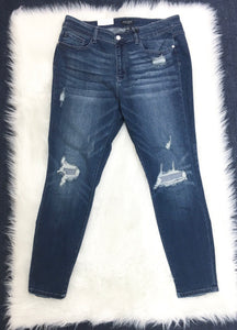 Curvy Flip Patch Judy Blue Jeans