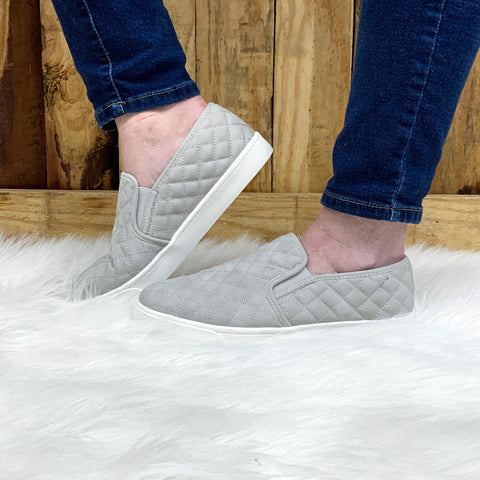 Gray Quilted Sneakers