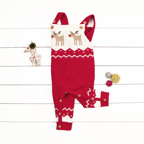 Reindeer Romper Red