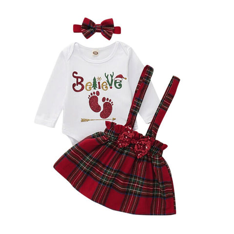 Believe Christmas Skirt Set