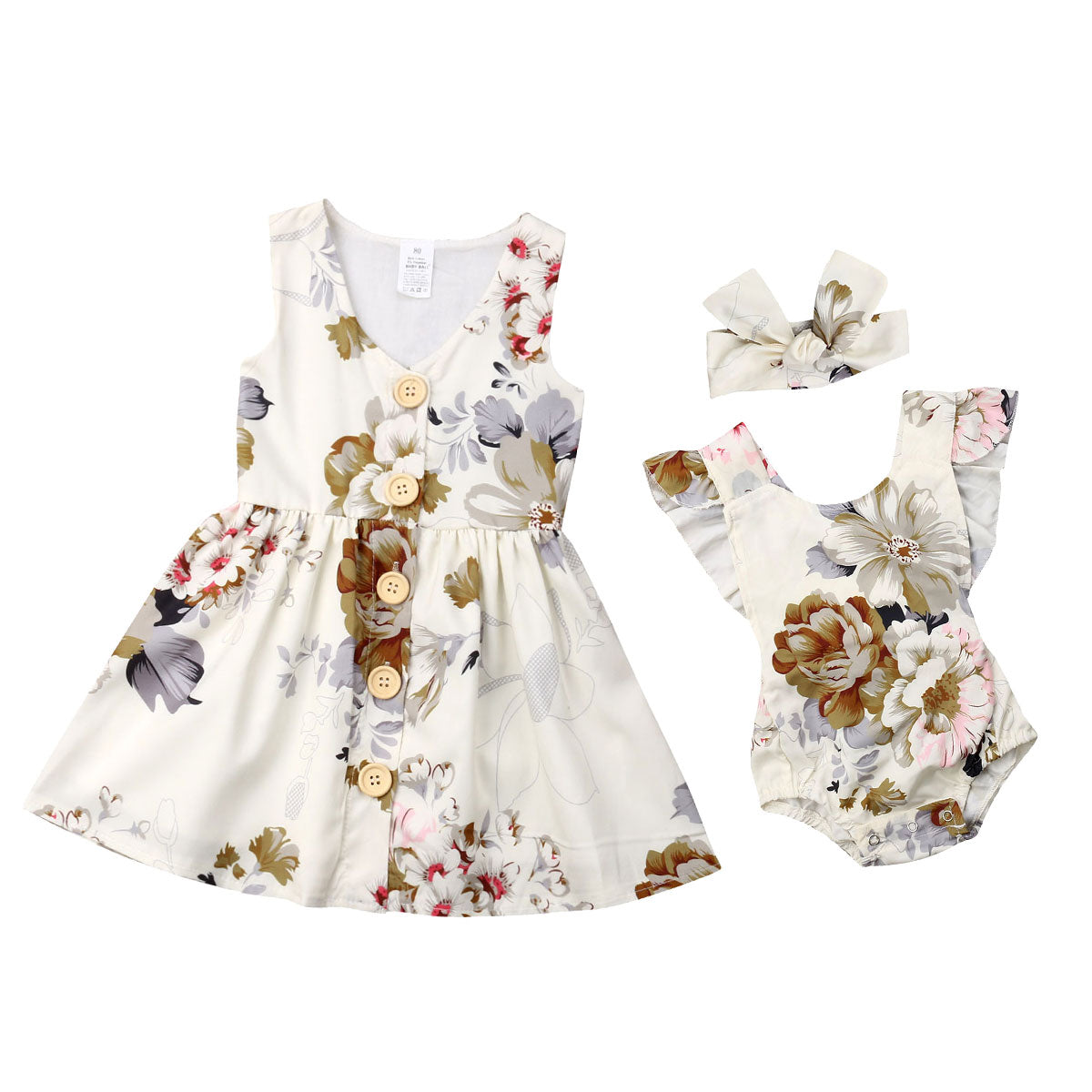 Matchy Match Sister White Floral