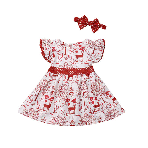 Reindeer Winter Scape Dress Set