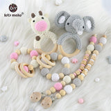 Personalized Dummy Clip/Animal Soft Teether Essentials Gift Pack