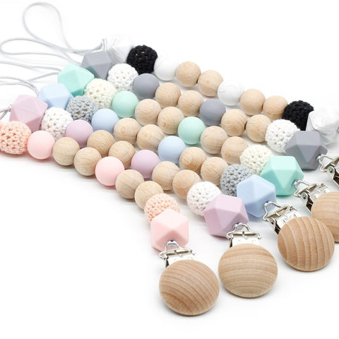 Wooden/Crochet/Silicone Beaded Dummy Clips
