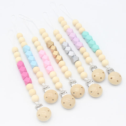 Wooden Beaded Dummy Clips