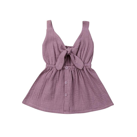 Bow Front Sundress Purple