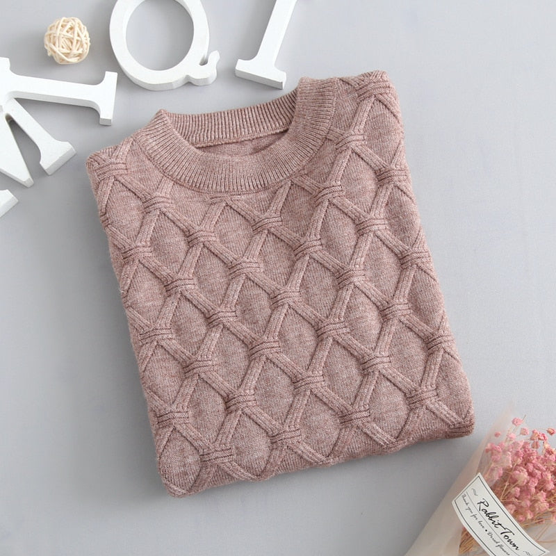 Autumn Knitted Sweater Brown