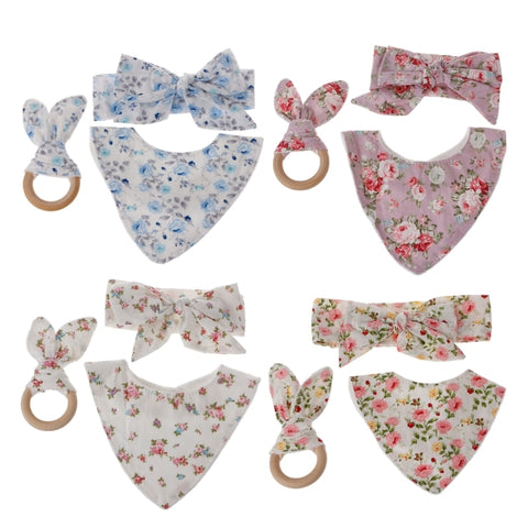 Bandana Bib, Teether & Bow Packs