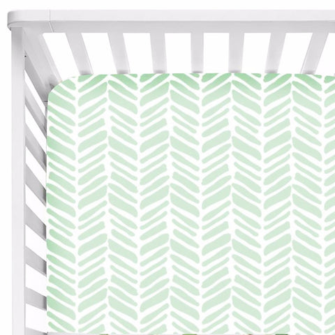 Helena Fitted Cot Sheet Pastel Chevron