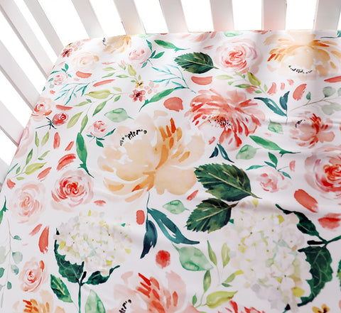 Helena Fitted Cot Sheet Floral