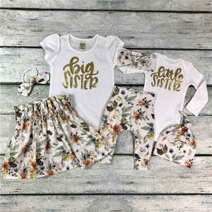 Matchy Match Gold Floral Sister Sets