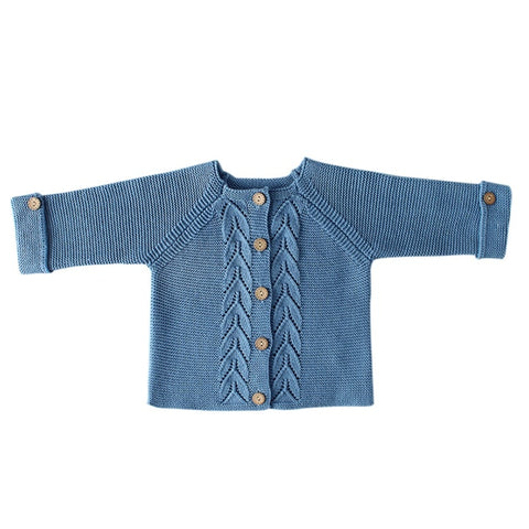 Kingdom Knitted Cardigan Blue