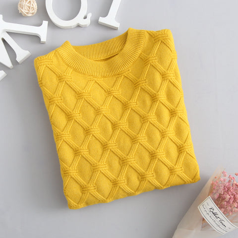 Autumn Knitted Sweater Yellow