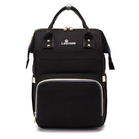 LeQueen Simple Backpack Nappy Bag Black