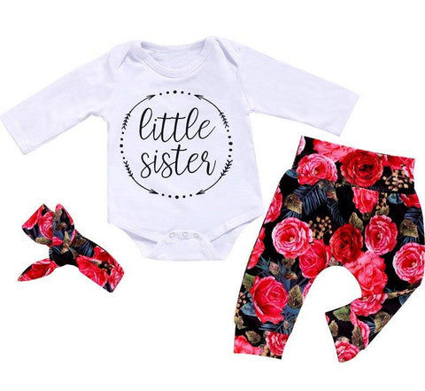 Little Sister Red Floral Set