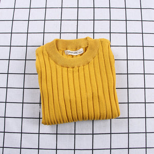 Ribbed Knitted Sweater Yellow