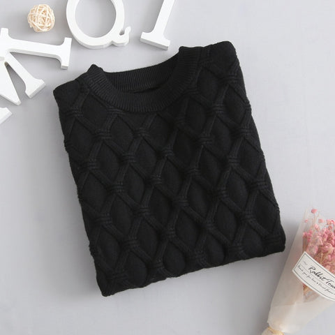 Autumn Knitted Sweater Black