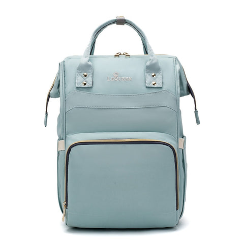 LeQueen Simple Backpack Nappy Bag Light Blue