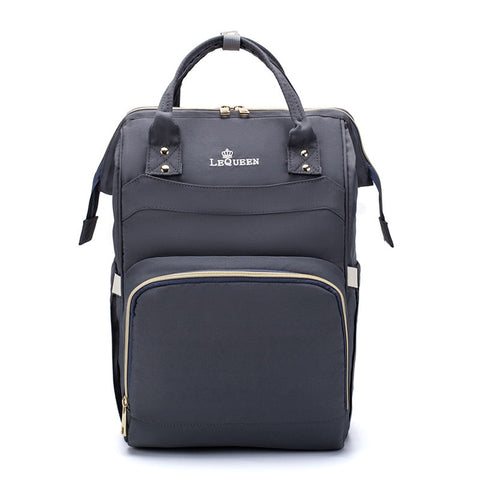 LeQueen Simple Backpack Nappy Bag Grey