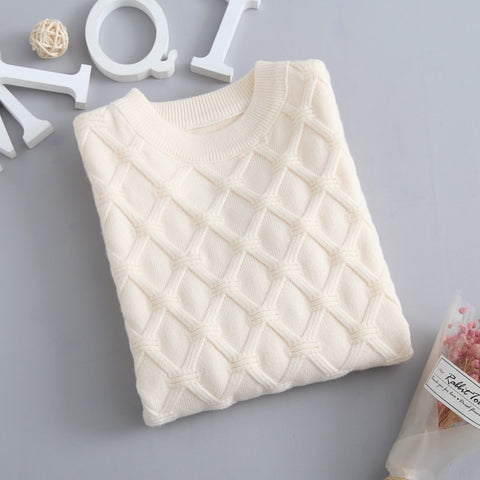 Autumn Knitted Sweater Beige