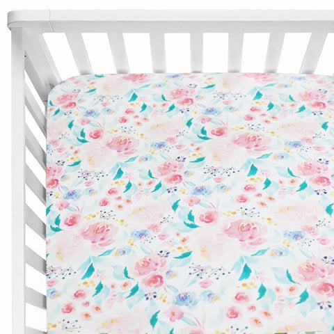Helena Fitted Cot Sheet Vintage Floral