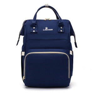 LeQueen Simple Backpack Nappy Bag Navy