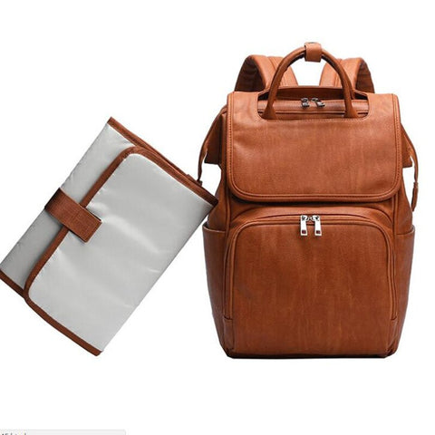 Neptune Nappy Bag Backpack Tan