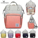 LeQueen Striped Backpack Nappy Bag Red