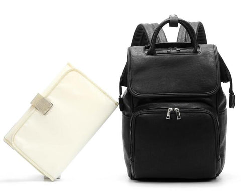 Neptune Nappy Bag Backpack Black