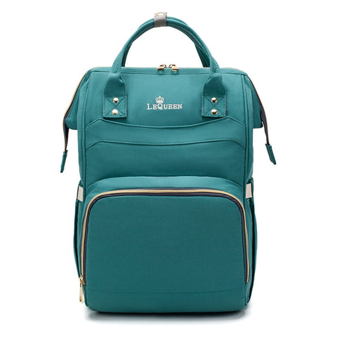 LeQueen Simple Backpack Nappy Bag Green